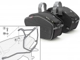 Saddle Bags Givi EA101B + Specific holder for Aprilia Dorsoduro 750