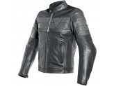Perfored Leather Jacket Man Dainese 8 TRACK Black/Black/Black