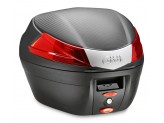 B34NMAL - Givi Givi BLACK MONOLOCK® TOP-CASE 34 LTR WITH RED REFLECTORS