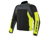 Motorcycle Jacket Man Dainese SPEED MASTER D-DRY Black Ebony Fluo-Yellow