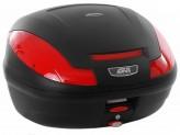 E470N - Givi Top Case Monolock E470 SIMPLY III 47lt Black/Red Reflectors