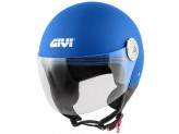 Helmet Jet Givi 10.7 Mini-J Solid Colour Matt Metalic Blue