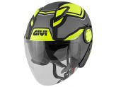 Helmet Jet Givi 12.3 Stratos SHADE Matt Titanium Black Yellow