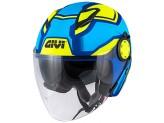 Helmet Jet Givi 12.3 Stratos SHADE Matt Blue Yellow