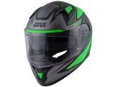 Helmet Full-Face Givi 50.6 Stoccarda Follow Matt Black Green Titanium