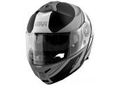 Helmet Modular Openable Givi X.21 Challenger Graphic Globe Matt Black Titanium