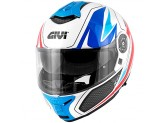 Helmet Modular Openable Givi X.21 Challenger Shiver Graphic White Blue Red