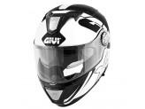 Helmet Modular Openable Givi X.23 Sydney Eclipse Black White