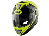 Helmet Modular Openable Givi X.23 Sydney Eclipse Neon Yellow Black