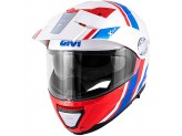 Helmet Modular Openable Givi X.33 Canyon Division White Red Blue