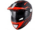 Helmet Modular Openable Givi X.33 Canyon Layers Matt Black Orange