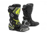 Leather Boots Racing Forma Ice Pro Black Grey Fluo-Yellow