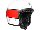 Helmet Jet Agv Legends X70 Mino 73 White Red