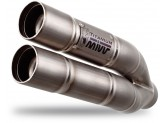 E.002.LDG - Exhaust Muffler Mivv DOUBLE GUN Titanium BENELLI LEONCINO (17>)
