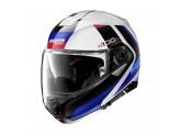Helmet Flip-Up Full-Face Nolan N100.5 Hilltop 49 Metal White