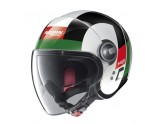 Helmet Jet Nolan N21 Visor Spheroid 45 Metal White
