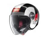 Helmet Jet Nolan N21 Visor Spheroid 46 Metal White