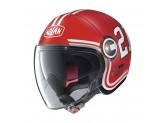 Helmet Jet Nolan N21 Visor Quarterback 84 Flat Corsa Red