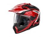 Helmet Full-Face Crossover Nolan N70.2 X Grandes Alpes 28 Corsa Red