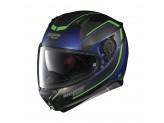 Helmet Full-Face Nolan N87 Savoir Faire 57 Fade Flat Cayman Blue