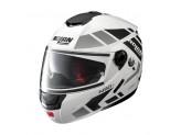 Helmet Flip-Up Full-Face Nolan N90.2 28 Metal White