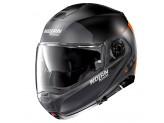 Helmet Flip-Up Full-Face Nolan N100.5 PLUS Distinctive 26 Matt Black Orange
