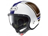 Helmet Jet Nolan N21 Flybridge 87 Metal White Blue Brown