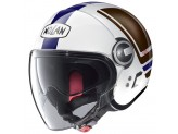 Helmet Jet Nolan N21 Visor Flybridge 66 Metal White Blue Brown