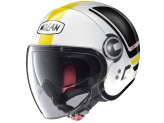 Helmet Jet Nolan N21 Visor Flybridge 65 Metal White Yellow Black