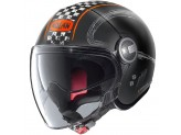 Helmet Jet Nolan N21 Visor Getaway 63 Matt Black Orange