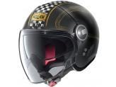 Helmet Jet Nolan N21 Visor Getaway 61 Matt Black Gold
