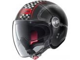 Helmet Jet Nolan N21 Visor Getaway 62 Matt Black Red