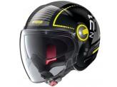 Helmet Jet Nolan N21 Visor Runabout 58 Glossy Black Yellow
