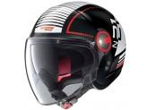 Helmet Jet Nolan N21 Visor Runabout 57 Glossy Black Red