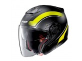 Helmet Jet Nolan N40-5 Resolute 18 Matt Black Yellow