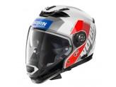 Helmet Full-Face Crossover Nolan N70.2 GT CELERES N-COM 33 Metal White Blue Red