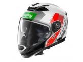 Helmet Full-Face Crossover Nolan N70.2 GT CELERES N-COM 34 Metal White