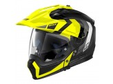 Helmet Full-Face Crossover Nolan N70.2 X DECURIO N-COM 30 Matt-Black Fluo-Yellow