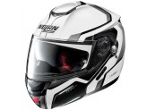 Helmet Flip-Up Full-Face Nolan N90.2 MERIDIANUS N-COM 31 Metal White