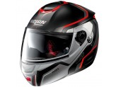Helmet Flip-Up Full-Face Nolan N90.2 MERIDIANUS N-COM 29 Matt Black Grey Red