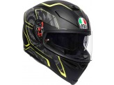 Helmet Full-Face Agv K-5 S Tornado Black Yellow Fluo