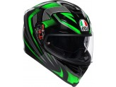 Helmet Full-Face Agv K-5 S Hurricane 2.0 Black Green