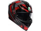 Helmet Full-Face Agv K-5 S Hurricane 2.0 Black Red