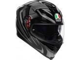 Helmet Full-Face Agv K-5 S Hurricane 2.0 Black Silver