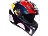 Helmet Full-Face Agv K1 Pitlane Blue Red Yellow