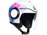 Helmet Jet Agv Orbyt Mayfair White Purple