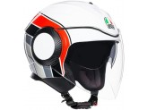Helmet Jet Agv Orbyt Brera White Red Grey