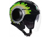 Helmet Jet Agv Orbyt Ginza Black Yellow Green