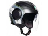 Helmet Jet Agv Orbyt Brera Matt Black Grey Yellow Fluo