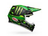 Helmet Bell Off-road Motocross Mx-9 Mips Mcgrath Replica Matt Black Green